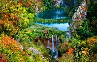 Touristen im Plitvice-Nationalpark