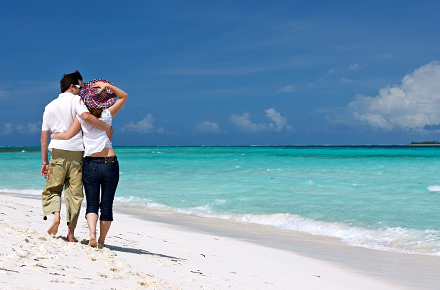 Malediven strandurlaub für verliebte